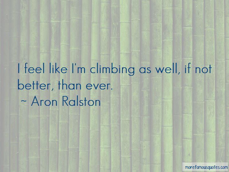 Aron Ralston Quotes