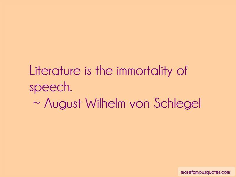 August Wilhelm Von Schlegel Quotes