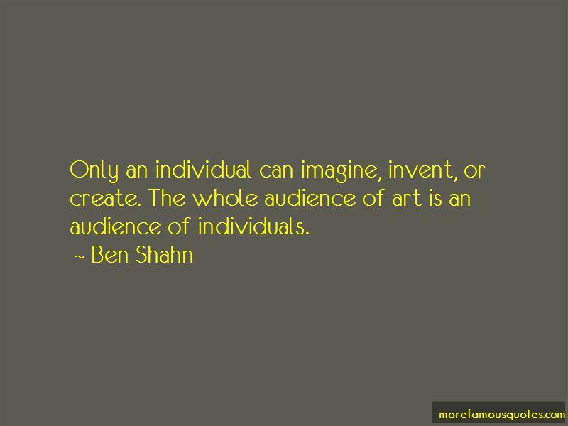 Ben Shahn Quotes Pictures 4
