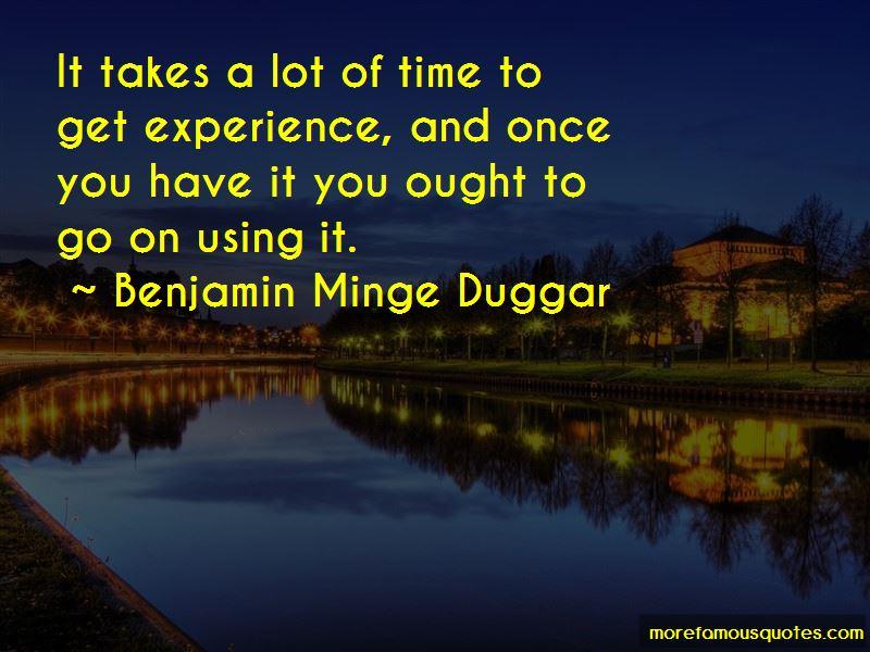 Benjamin Minge Duggar Quotes