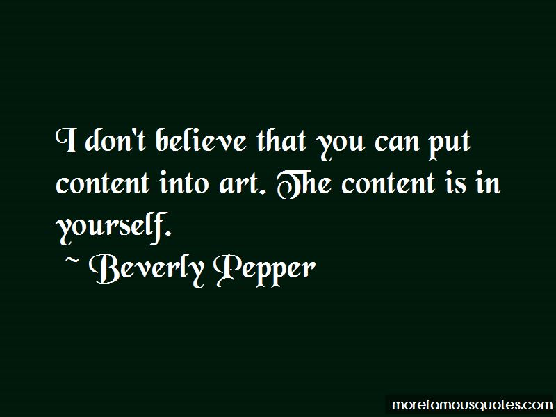 Beverly Pepper Quotes Pictures 2
