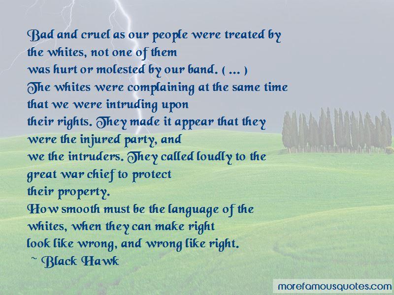 Black Hawk Quotes