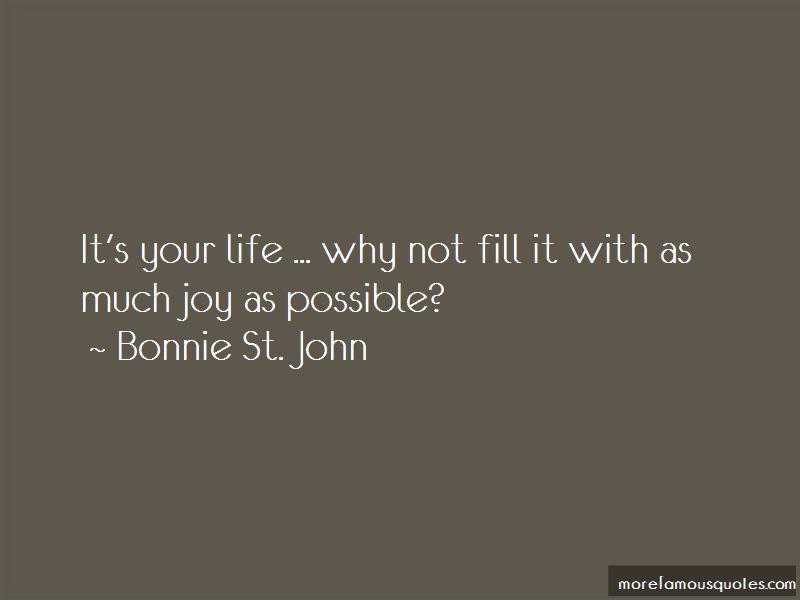 Bonnie St. John Quotes