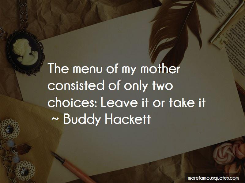 Buddy Hackett Quotes