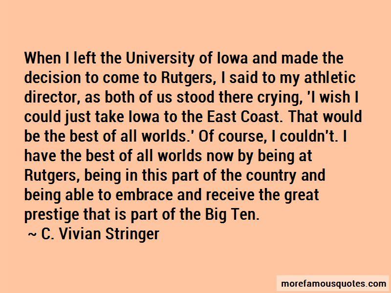 C. Vivian Stringer Quotes
