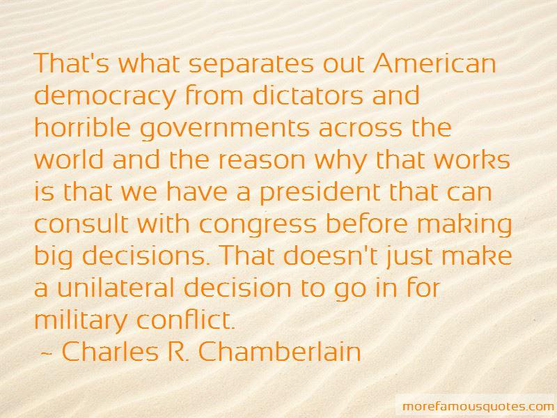 Charles R. Chamberlain Quotes