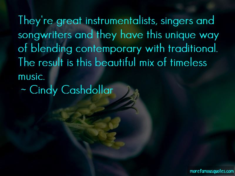 Cindy Cashdollar Quotes
