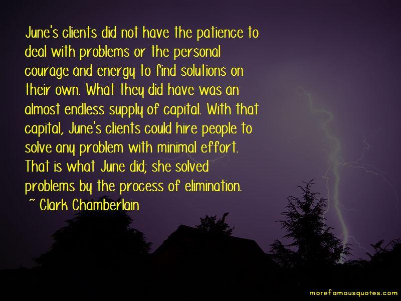 Clark Chamberlain Quotes