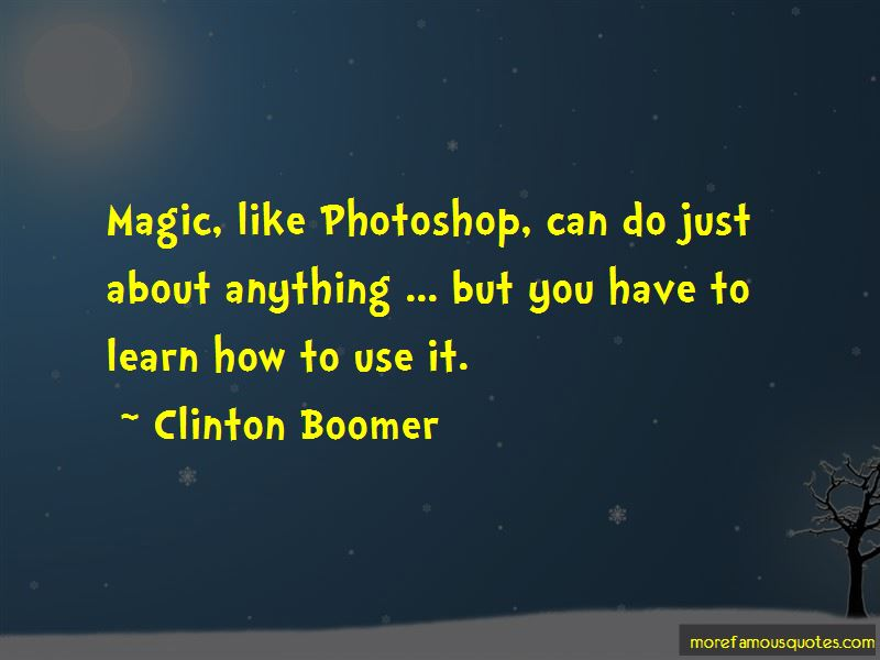 Clinton Boomer Quotes