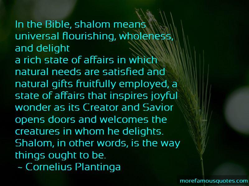 Cornelius Plantinga Quotes Pictures 2