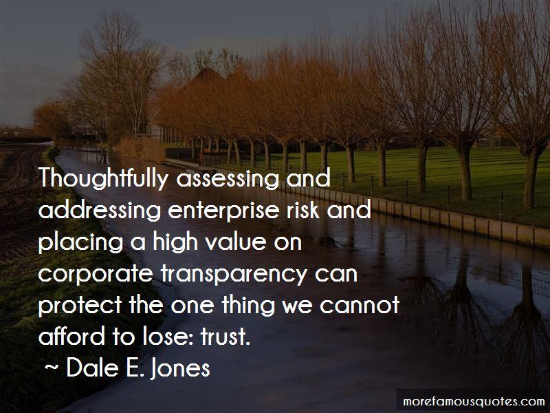Dale E. Jones Quotes