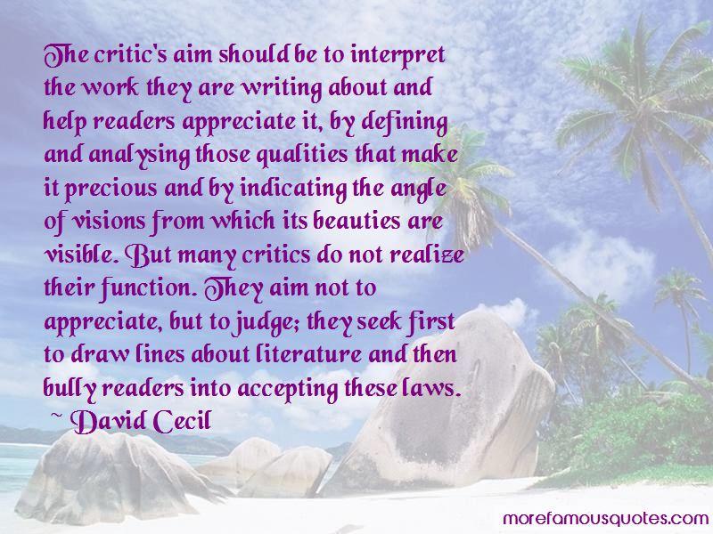 David Cecil Quotes