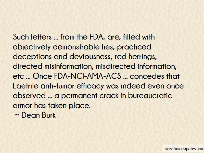 Dean Burk Quotes