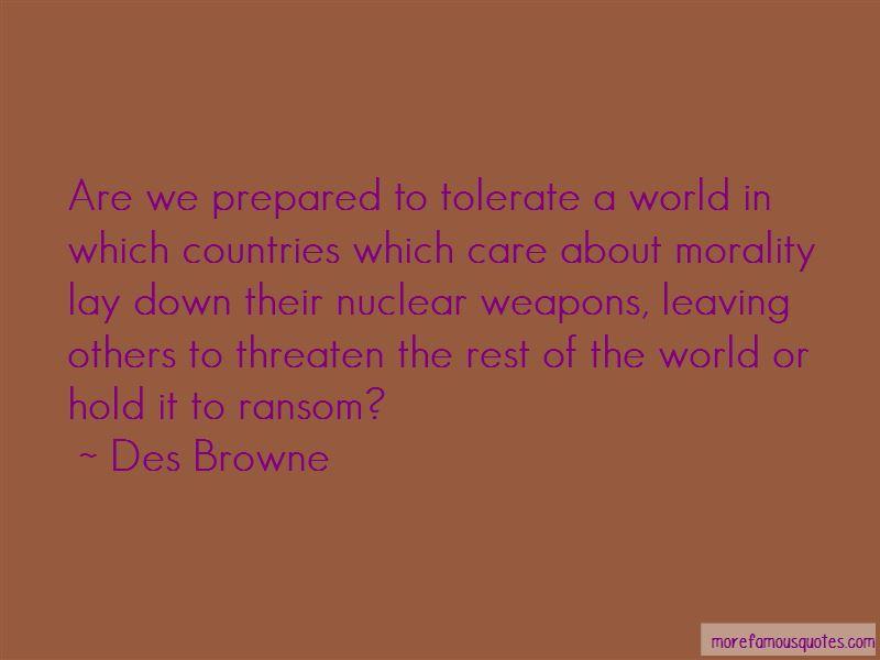 Des Browne Quotes