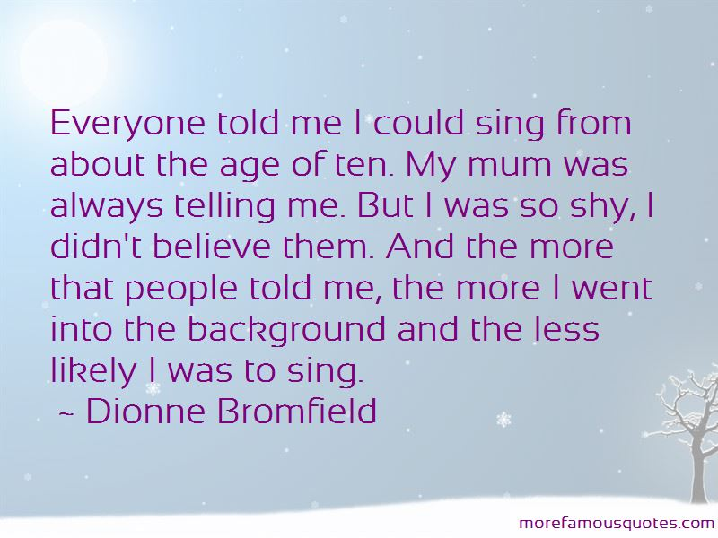 Dionne Bromfield Quotes Pictures 2