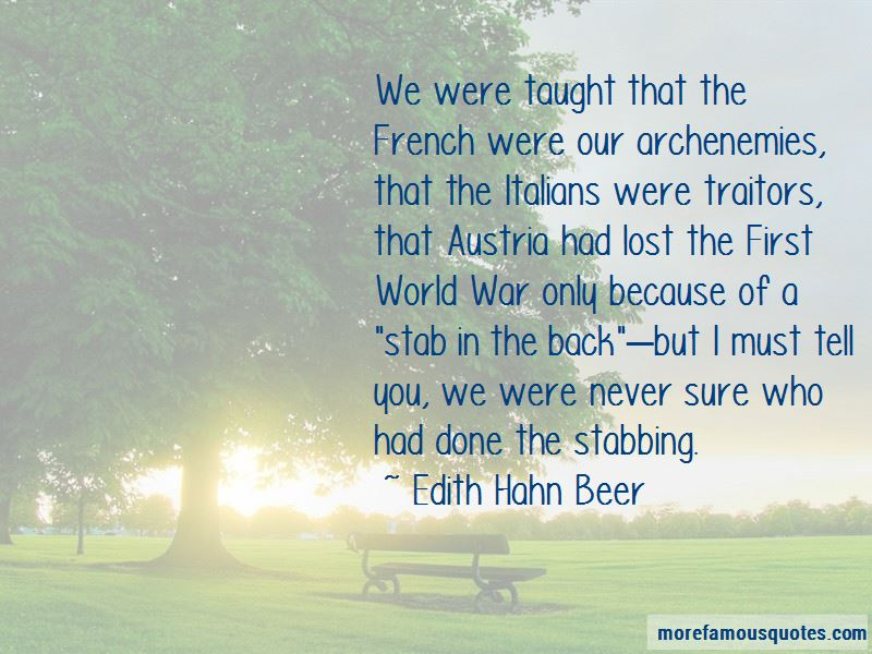 Edith Hahn Beer Quotes