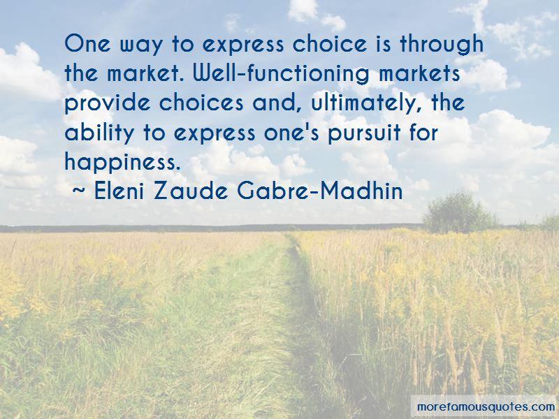 Eleni Zaude Gabre-Madhin Quotes Pictures 3
