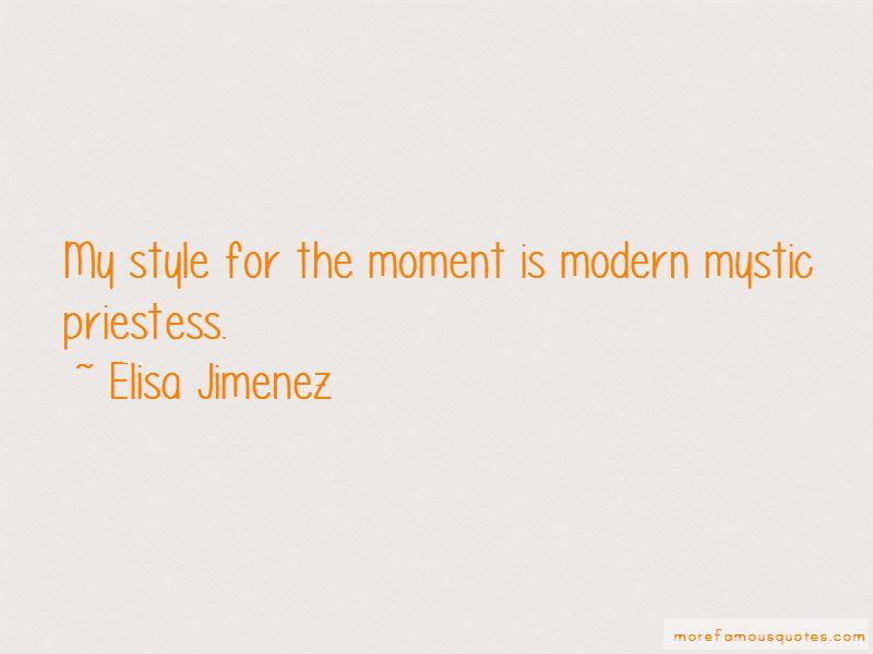 Elisa Jimenez Quotes