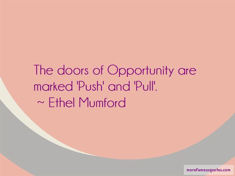 Ethel Mumford Quotes