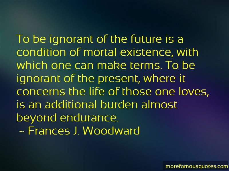 Frances J. Woodward Quotes