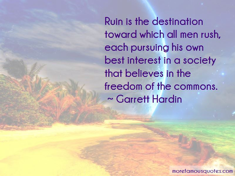 Garrett Hardin Quotes Pictures 2