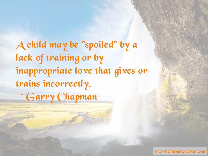 Garry Chapman Quotes