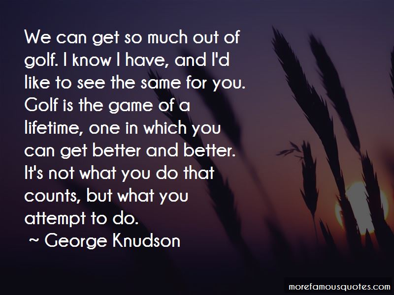George Knudson Quotes