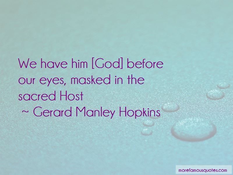 Gerard Manley Hopkins Quotes Pictures 4