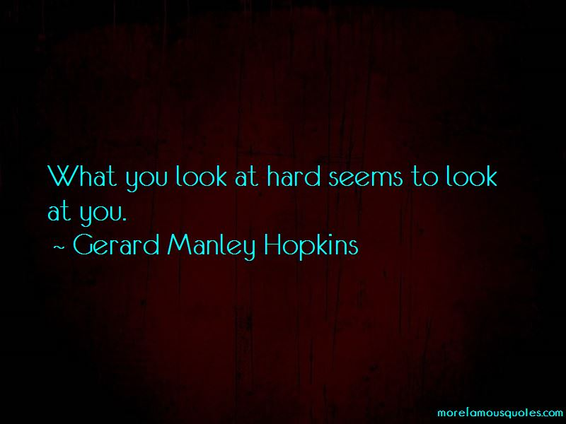 Gerard Manley Hopkins Quotes