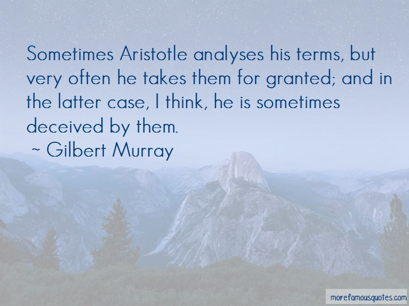 Gilbert Murray Quotes