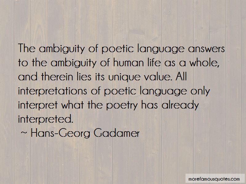 Hans-Georg Gadamer Quotes