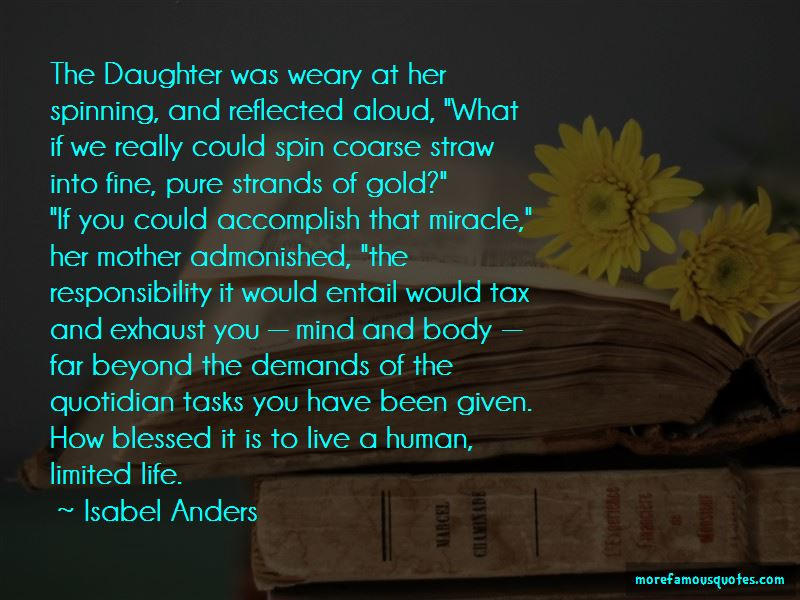 Isabel Anders Quotes