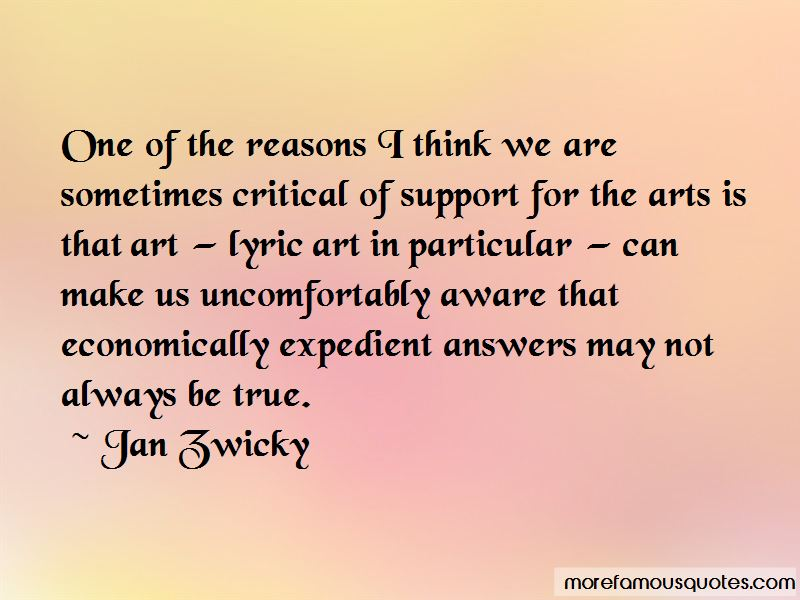 Jan Zwicky Quotes
