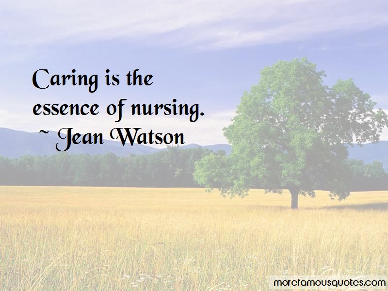 Jean Watson Quotes