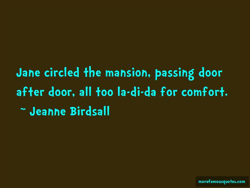 Jeanne Birdsall Quotes Pictures 4