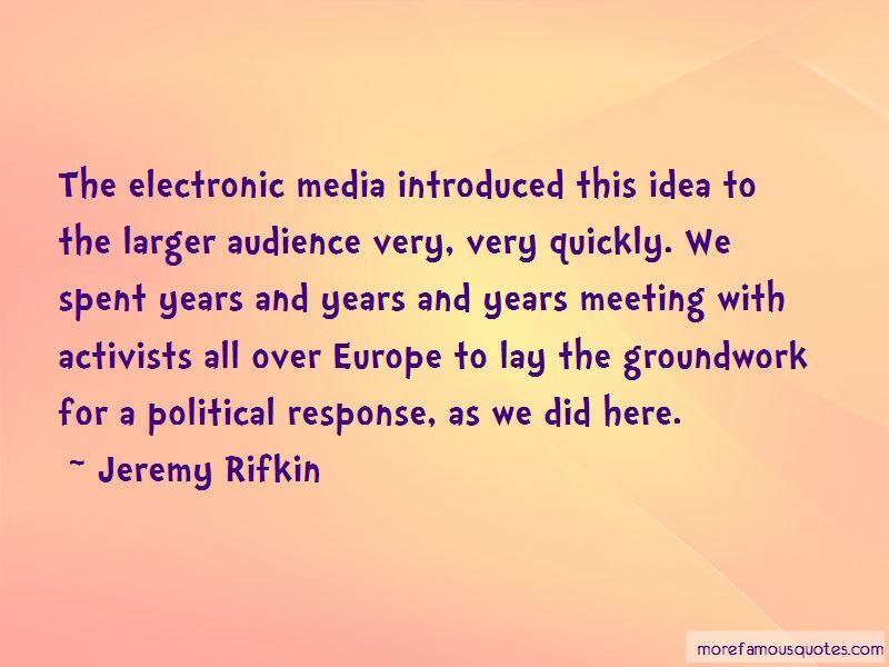 Jeremy Rifkin Quotes