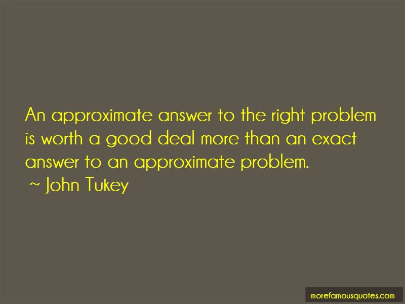 John Tukey Quotes