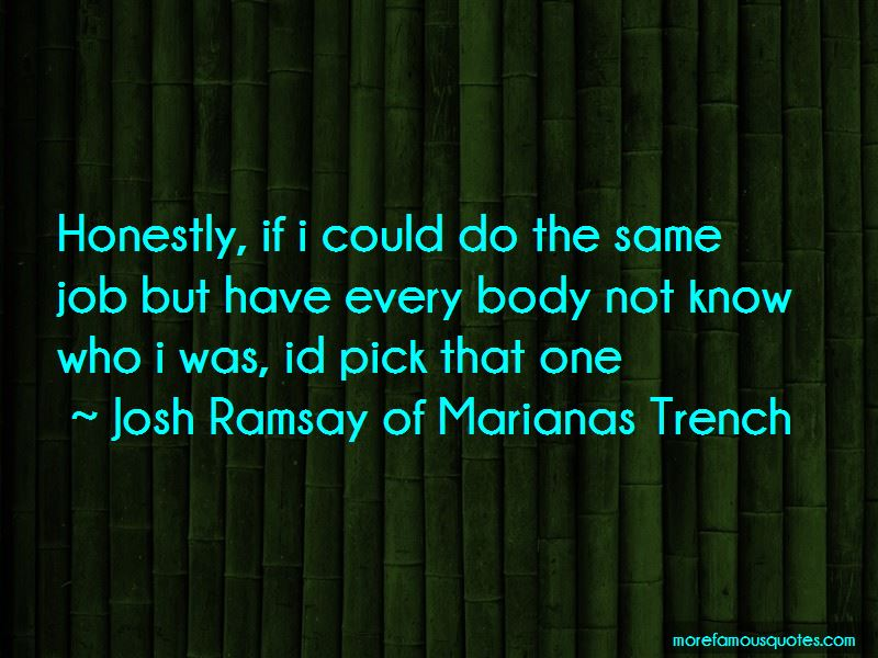 Josh Ramsay Of Marianas Trench quotes: top 6 famous quotes ...