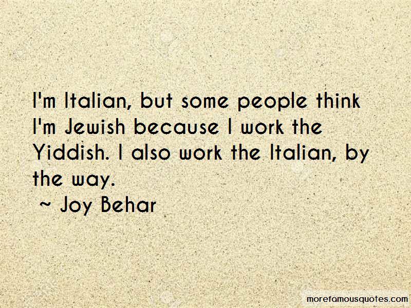 Joy Behar Quotes
