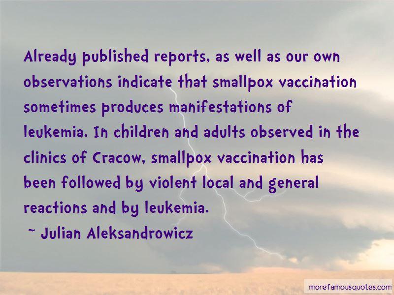 Julian Aleksandrowicz Quotes
