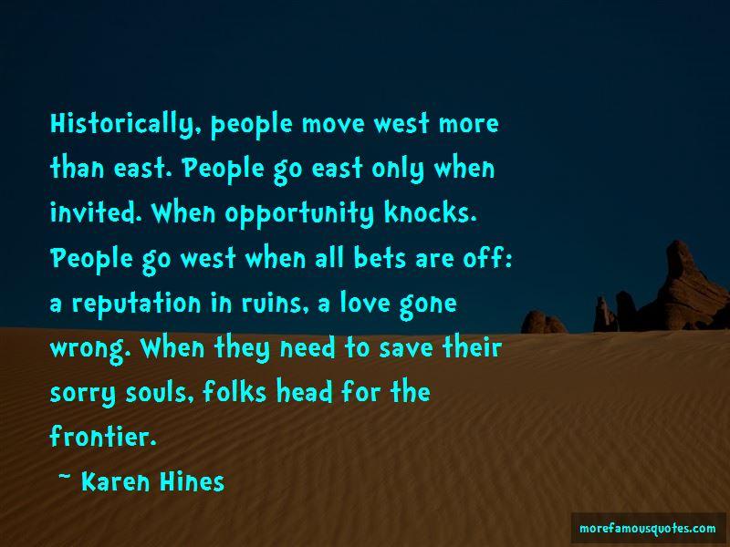 Karen Hines Quotes