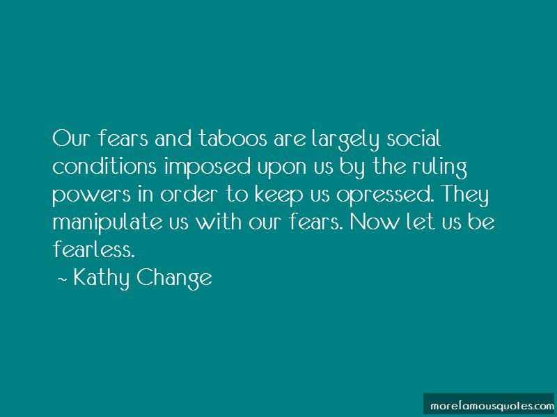 Kathy Change Quotes