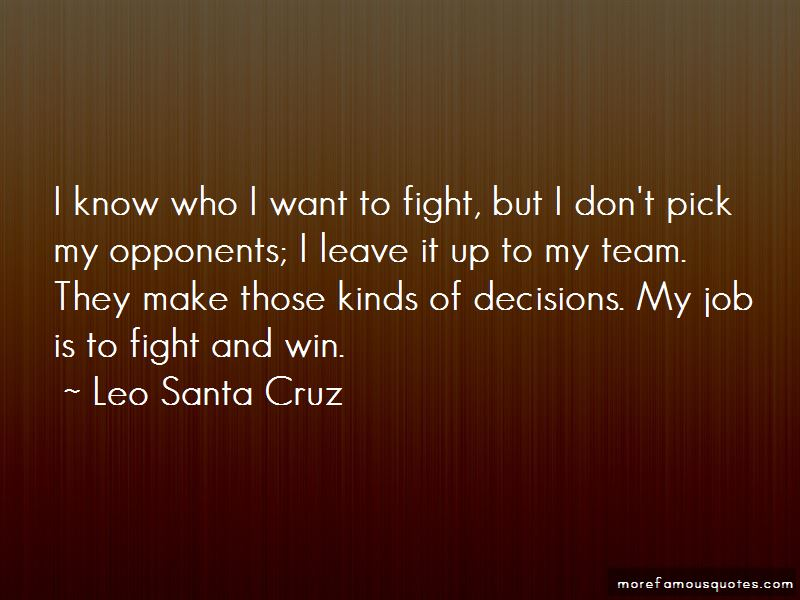 Leo Santa Cruz Quotes