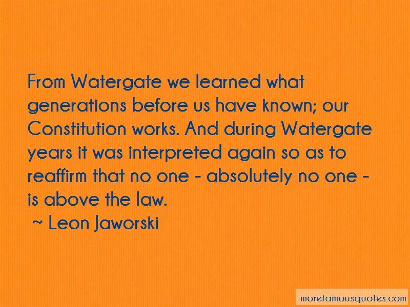 Leon Jaworski Quotes Pictures 2