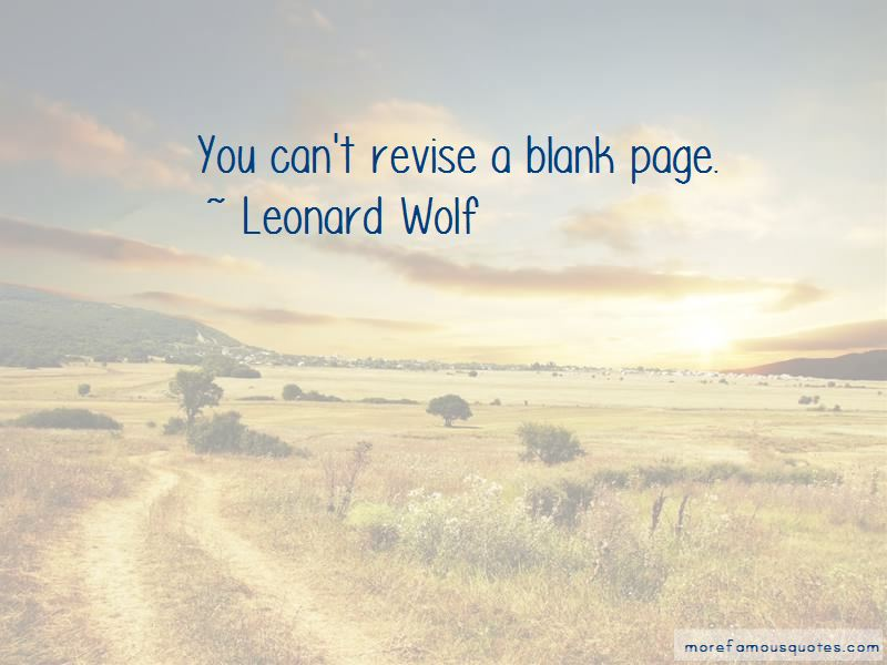 Leonard Wolf Quotes Pictures 3