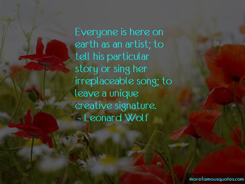 Leonard Wolf Quotes Pictures 4