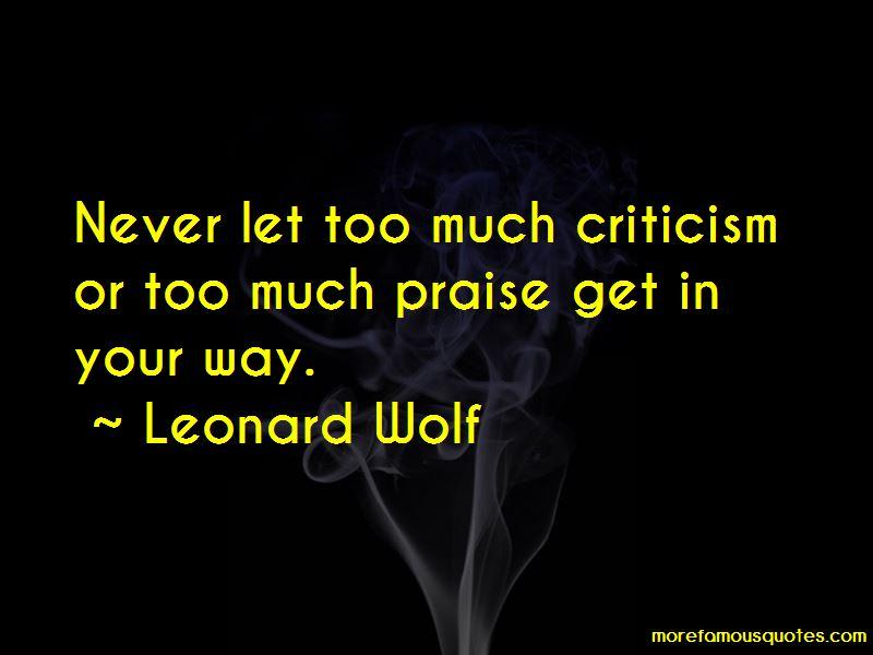 Leonard Wolf Quotes