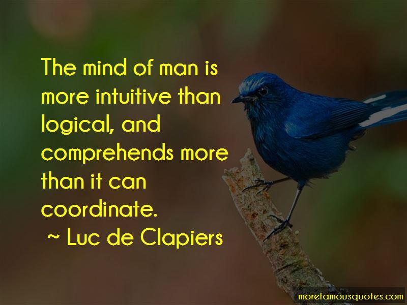 Luc De Clapiers Quotes