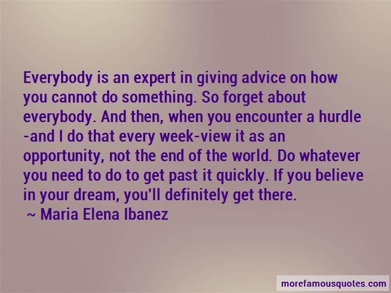 Maria Elena Ibanez Quotes