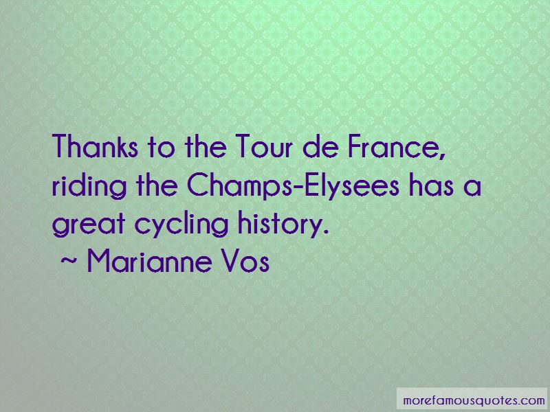 Marianne Vos Quotes